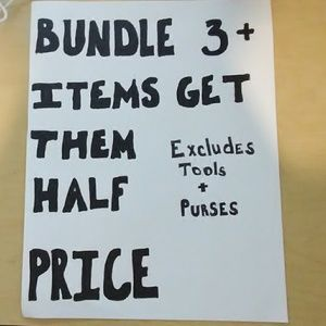 Bundle 3 Or More Items Get Them Half Price